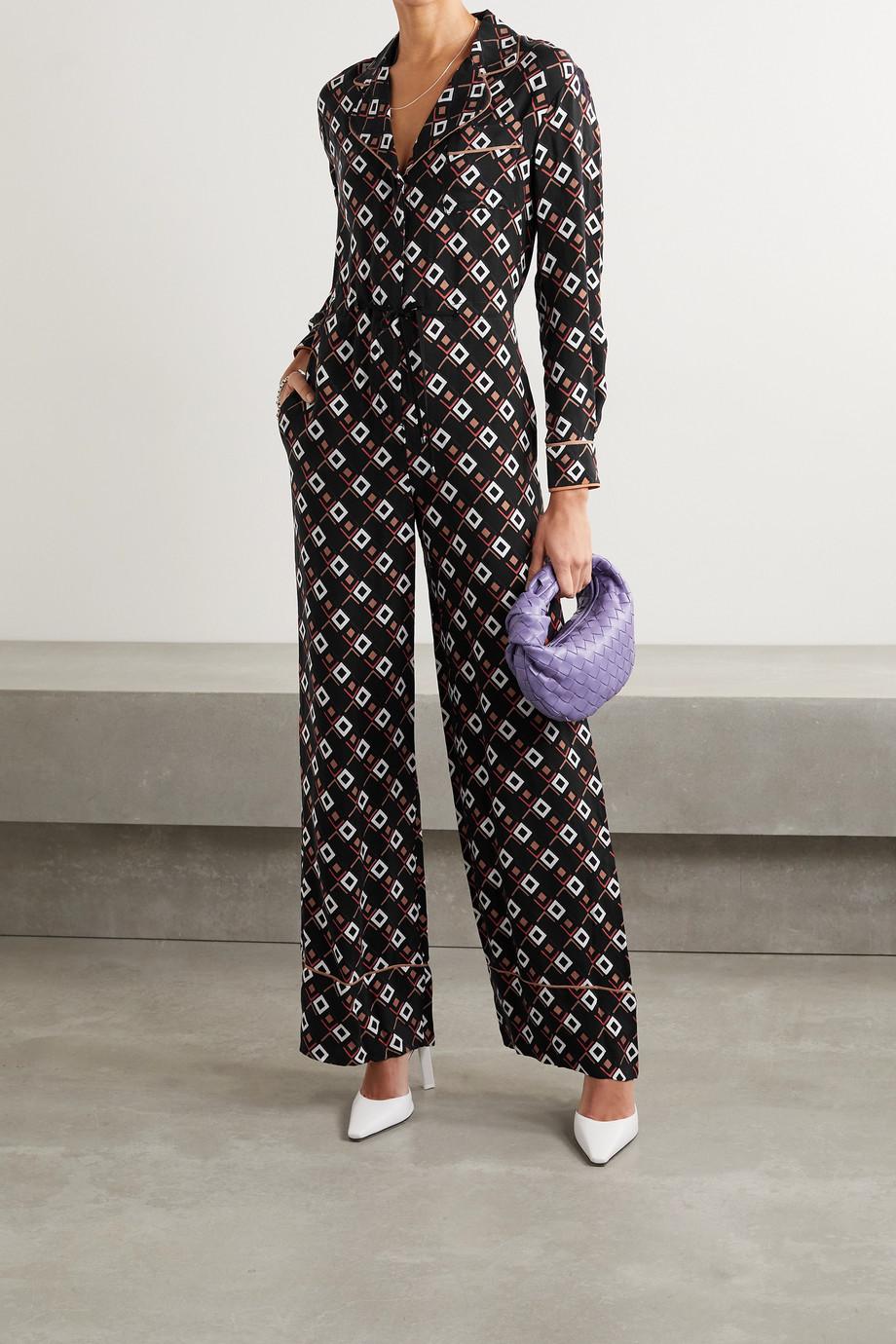 Diane von Furstenberg Cori printed twill jumpsuit