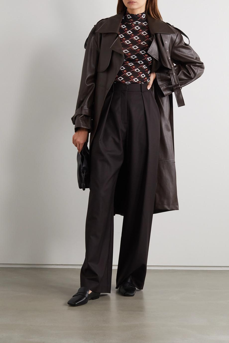 Diane von Furstenberg Remy printed stretch-tulle turtleneck top