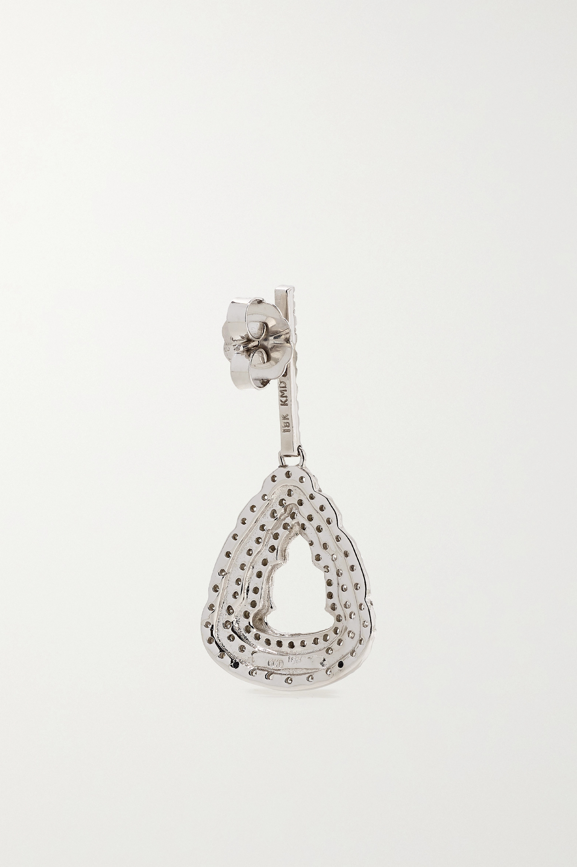 White Gold + Net Sustain 18-karat Diamond Earrings | Kimberly Mcdonald