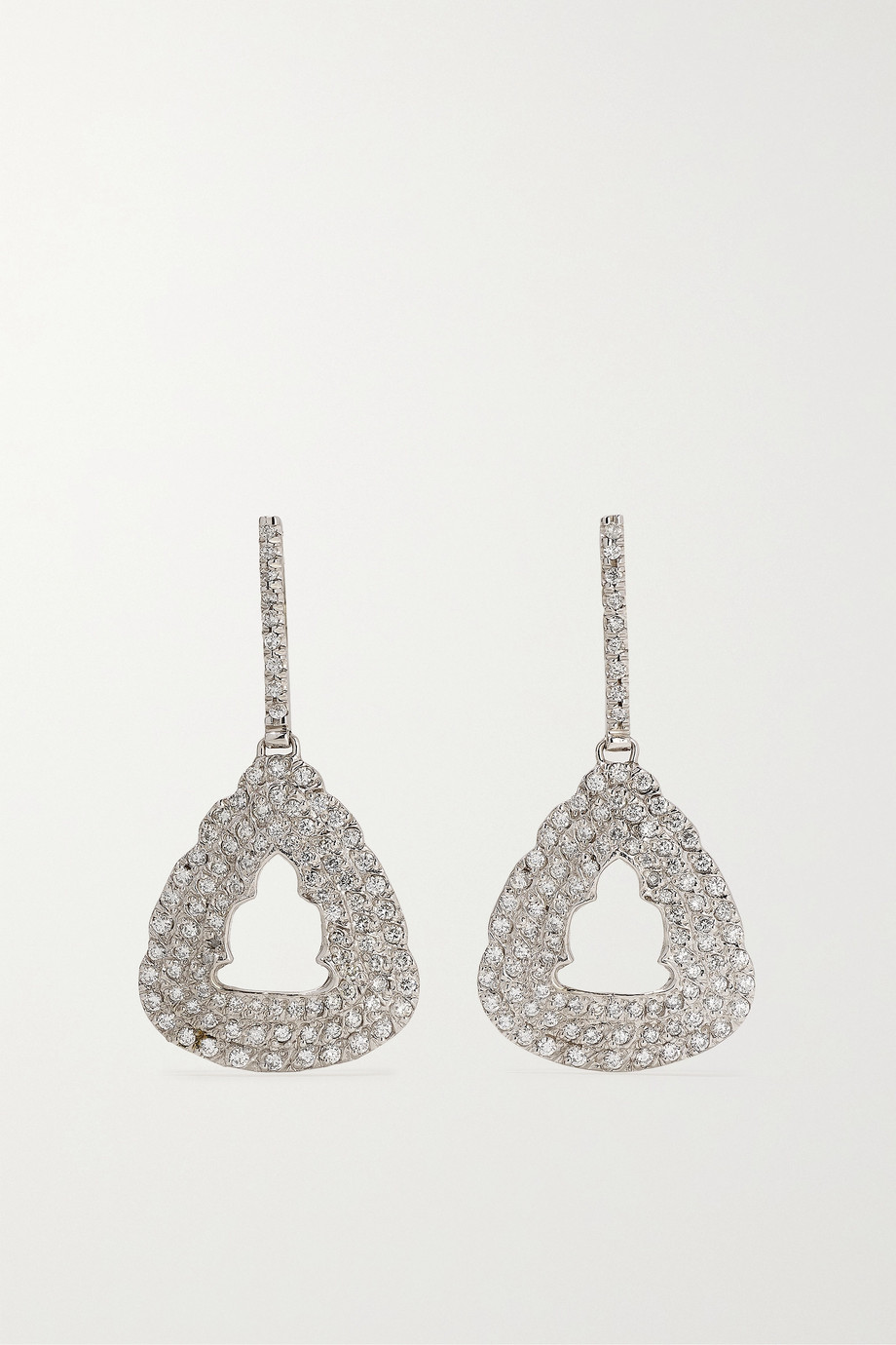 Kimberly McDonald 18-karat white gold diamond earrings