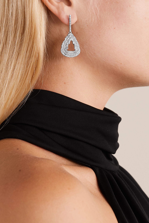 Kimberly McDonald 18-karat white gold diamond earrings