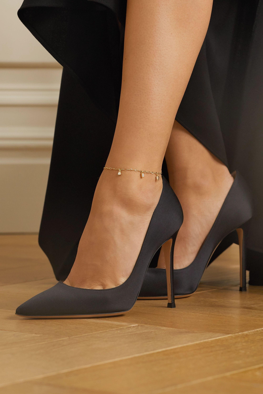 Kimberly McDonald 18-karat gold diamond anklet
