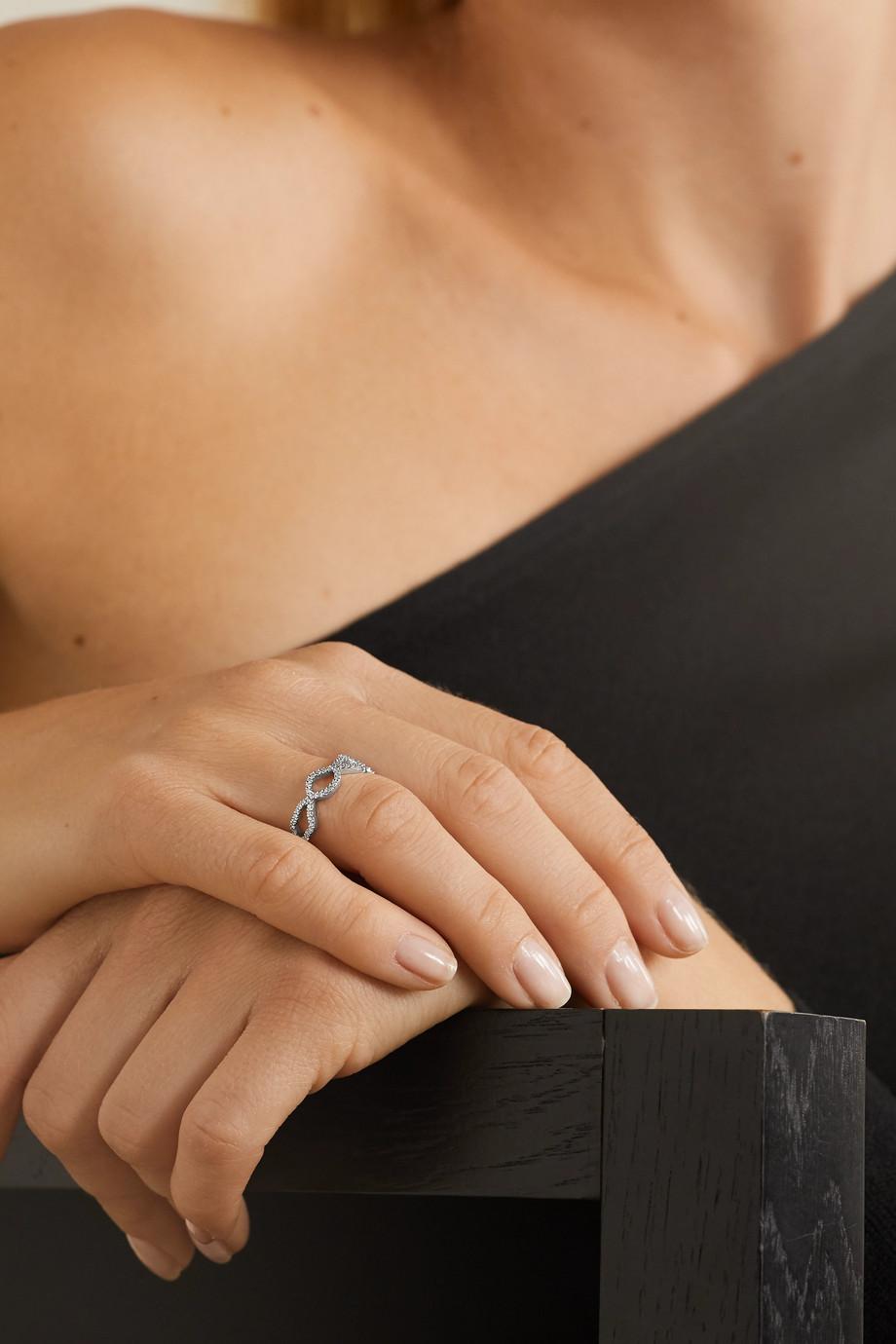 Kimberly McDonald 18-karat white gold diamond ring