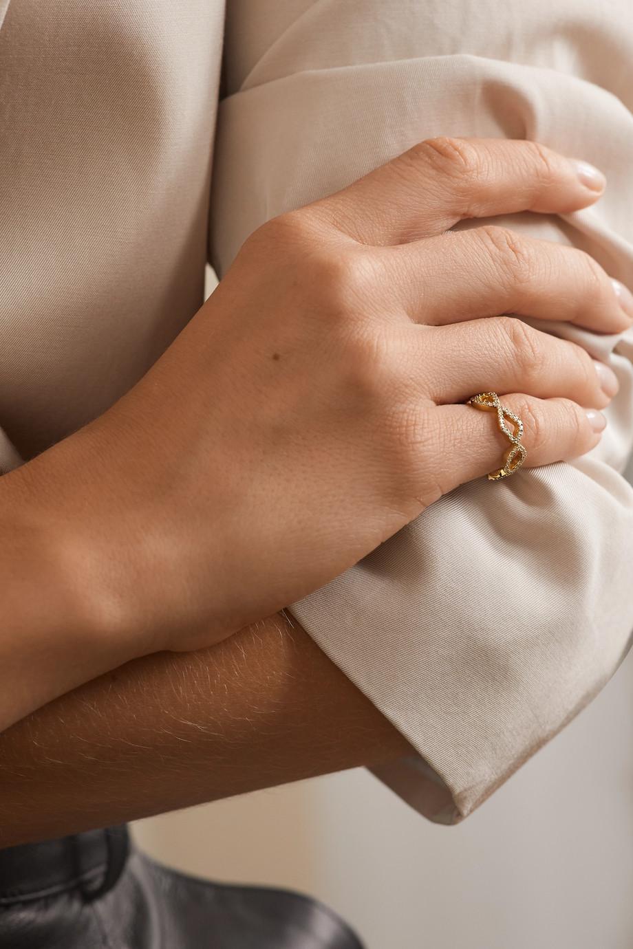 Kimberly McDonald 18-karat gold diamond ring