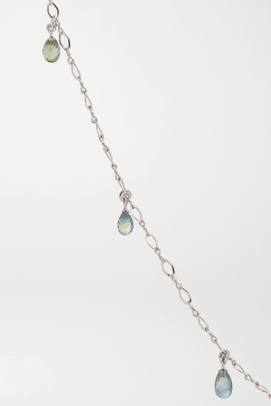 Kimberly McDonald Infinity 18-karat white gold sapphire anklet