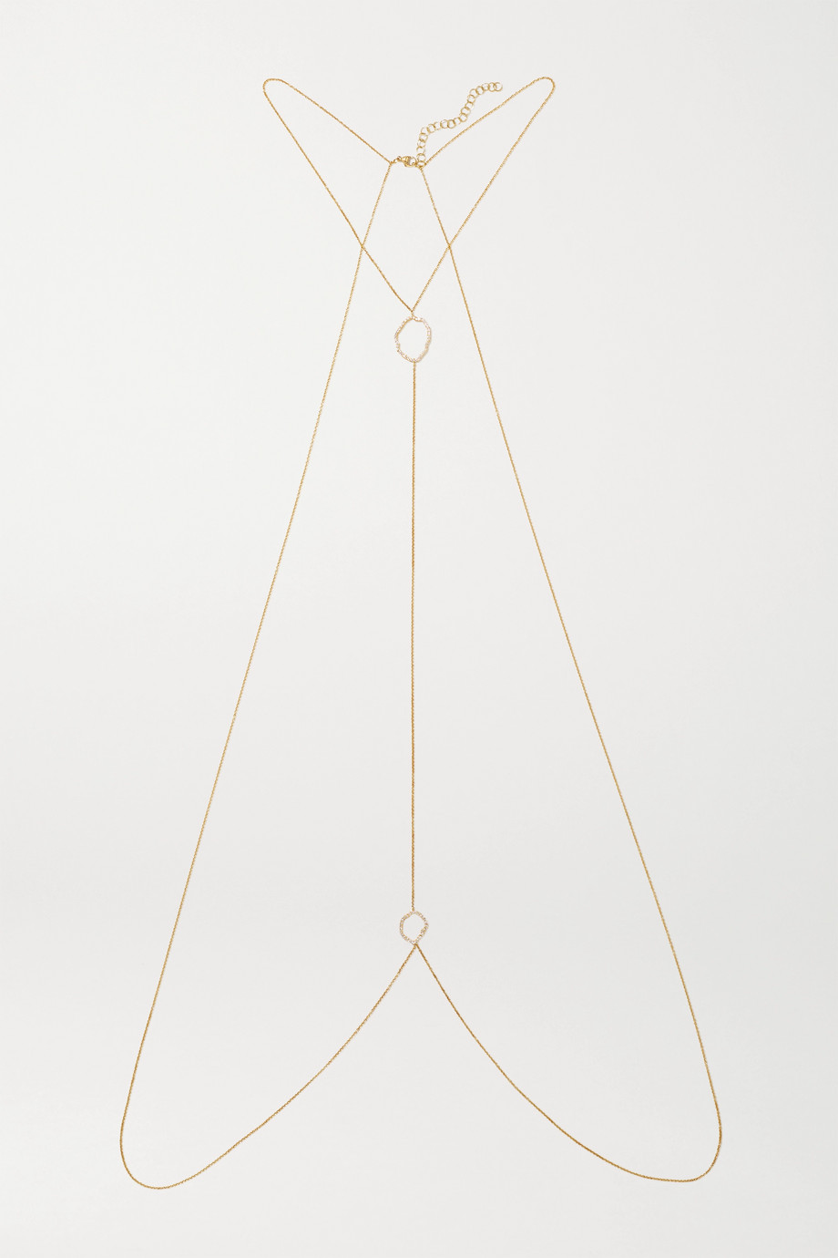 Kimberly McDonald 18-karat gold diamond body chain