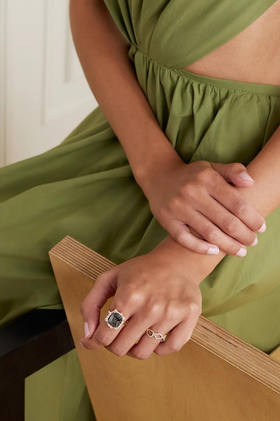 Kimberly McDonald 18-karat rose gold diamond ring