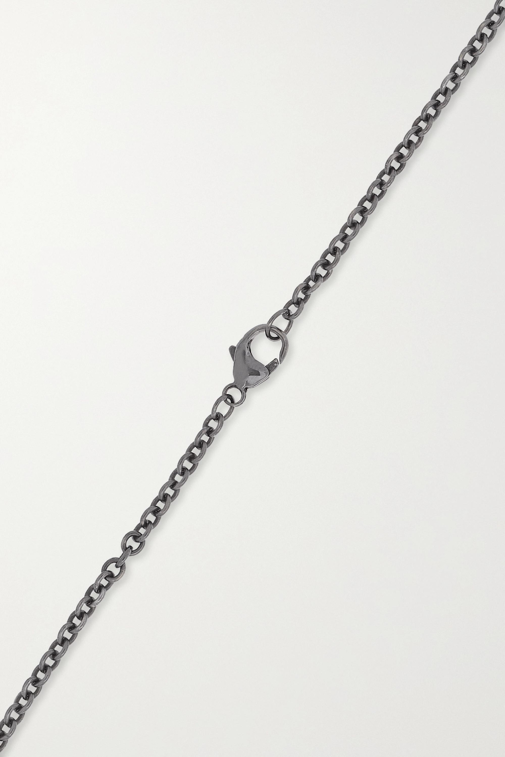 Kimberly McDonald 18-karat blackened white gold, quartz and diamond necklace
