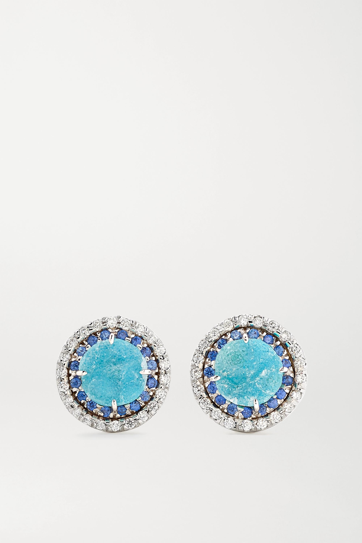 Kimberly McDonald 18-karat white gold multi-stone earrings