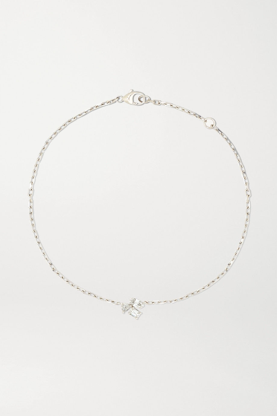 Kimberly McDonald 18-karat white gold diamond anklet