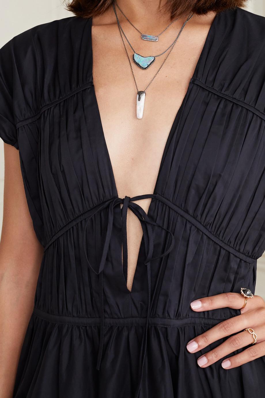 Kimberly McDonald 18-karat blackened white gold, opal and diamond necklace