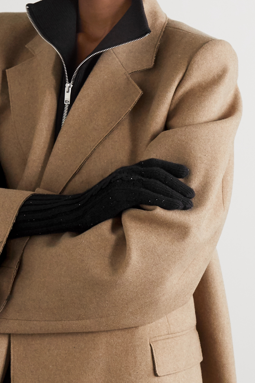 Loro Piana Hayden sequin-embellished cashmere gloves