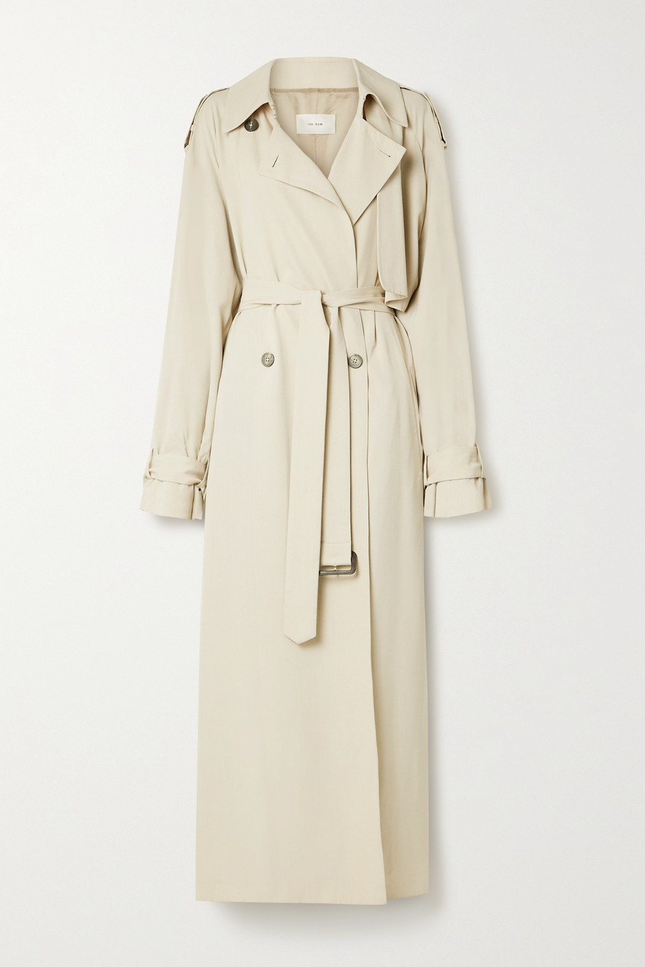 The Row Yeli belted double-breasted woven trench coat