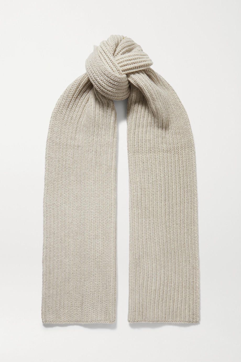 Loro Piana Two-tone ribbed cashmere scarf