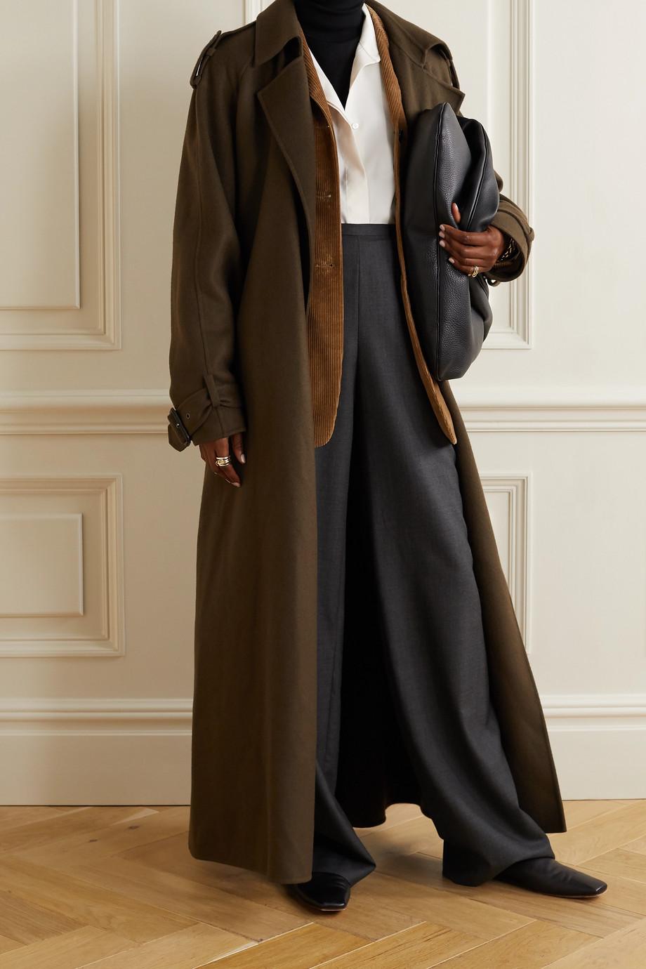 The Row Big Sisea oversized wool and silk-blend poplin shirt