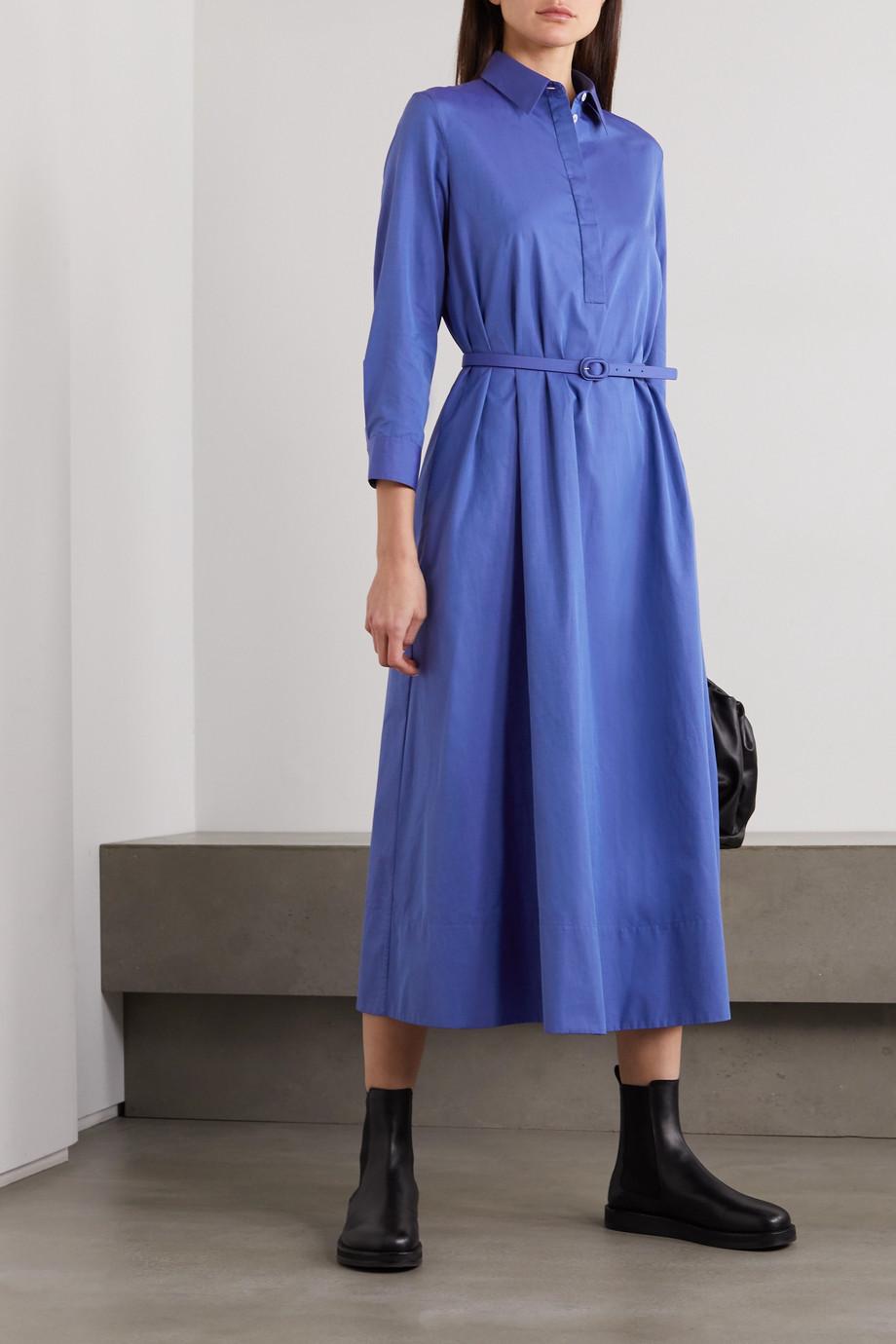The Row Tanita wool maxi shirt dress