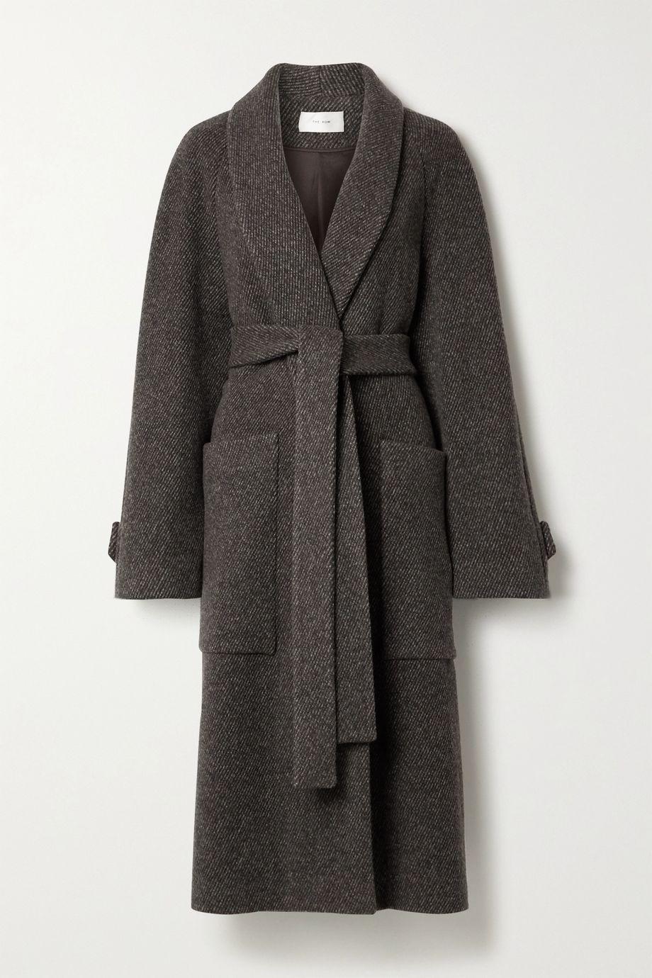 The Row Manteau en jacquard de laine à ceinture Fiera
