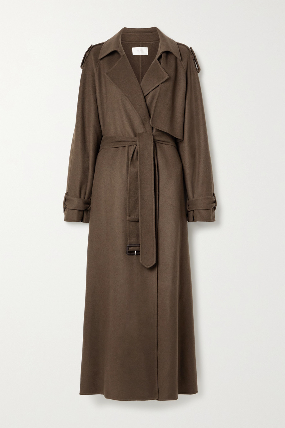 The Row Yeli belted cashmere and silk-blend trench coat