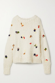 The Row Boris lace-trimmed cashmere sweater
