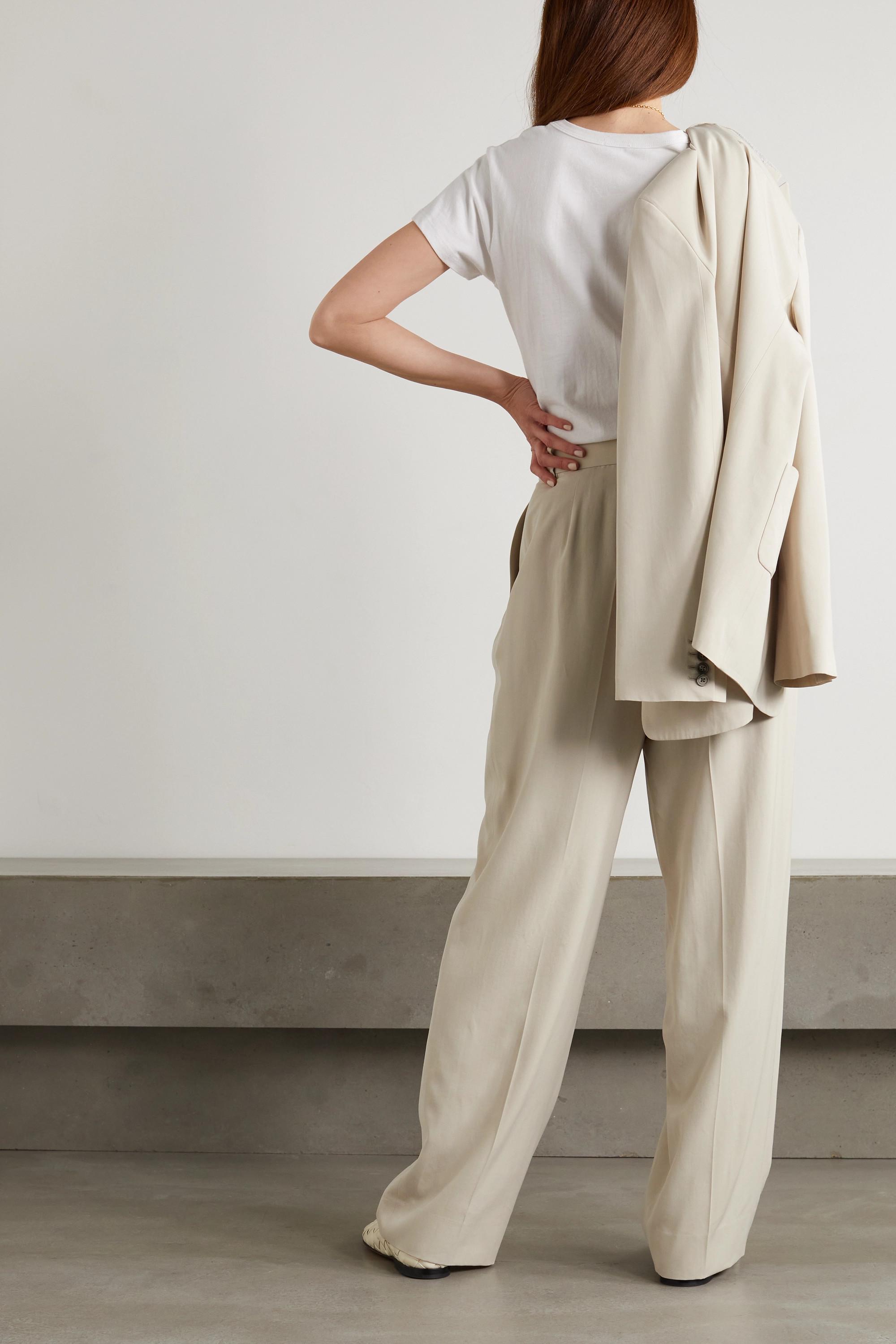 The Row Phoebe Hose mit weitem Bein aus Webstoff