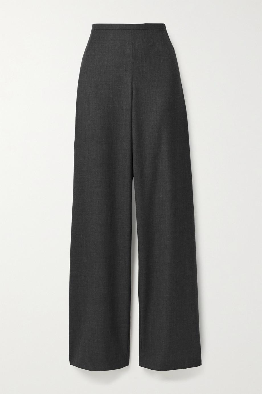 The Row Pantalon droit en serge de laine Roger