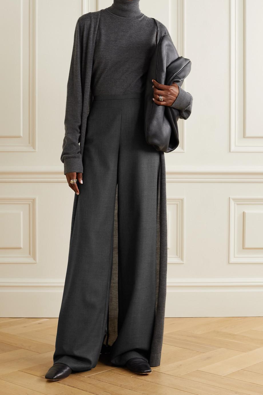 The Row Roger wool-twill straight-leg pants