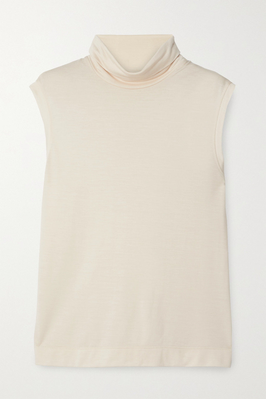 The Row Bokkai modal and cashmere-blend jersey turtleneck top