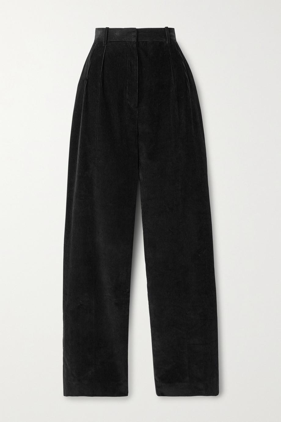 The Row Pantalon droit en velours de coton côtelé Chandler