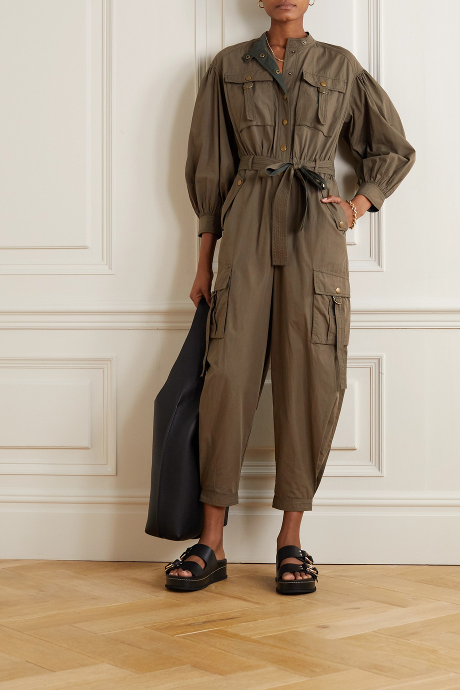Ulla Johnson Reverie belted cotton jumpsuit
