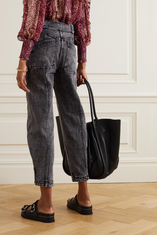 Ulla Johnson Carmen belted acid-wash high-rise tapered jeans