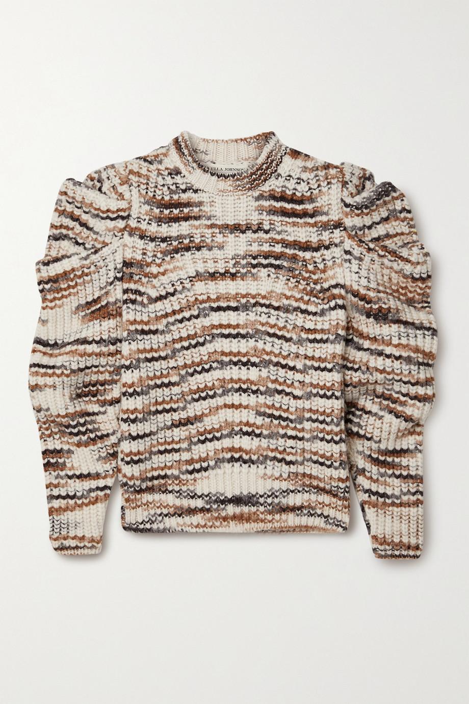 Ulla Johnson Daphne gestreifter Pullover aus einer Alpakawollmischung