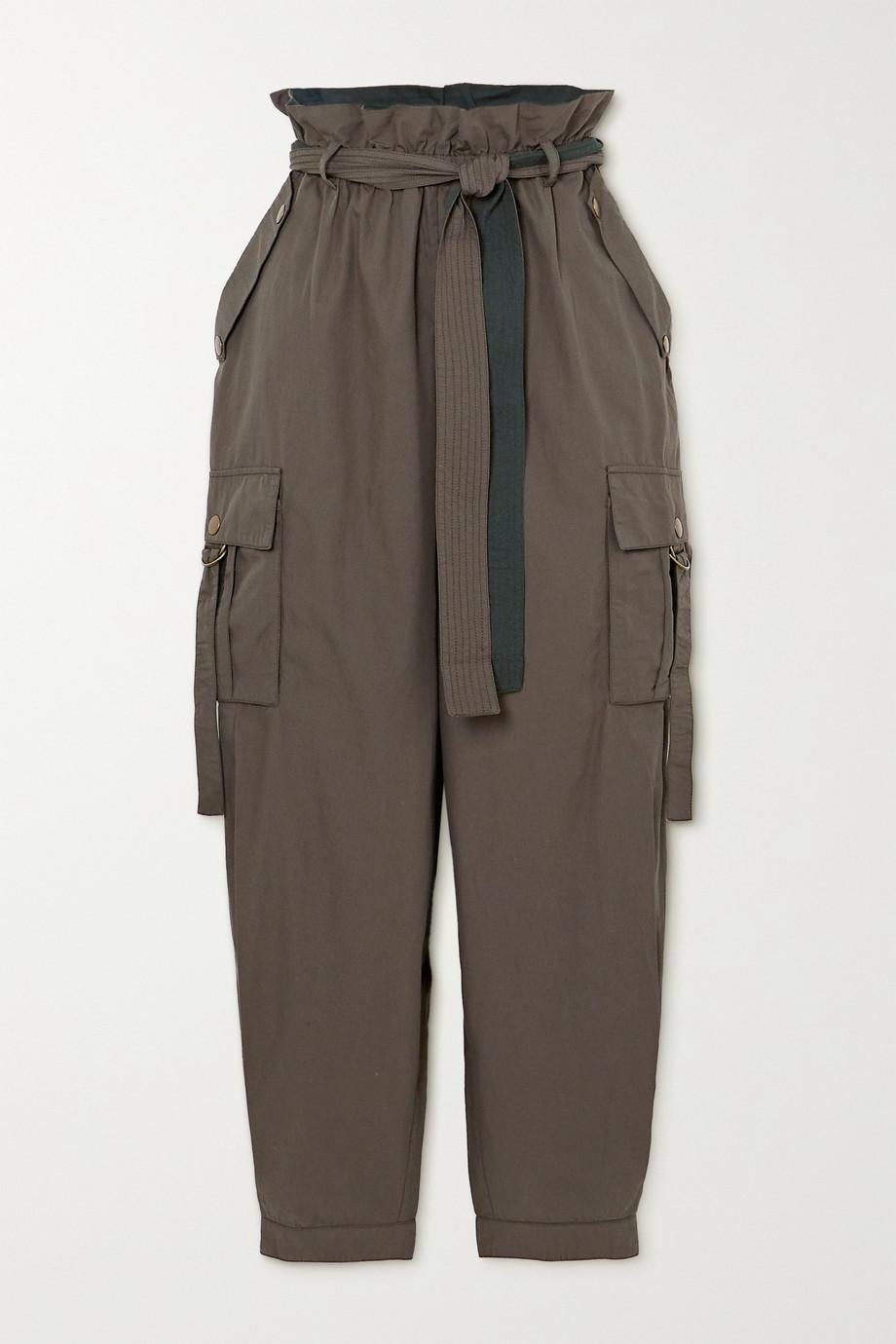 Ulla Johnson Willett belted cotton tapered pants