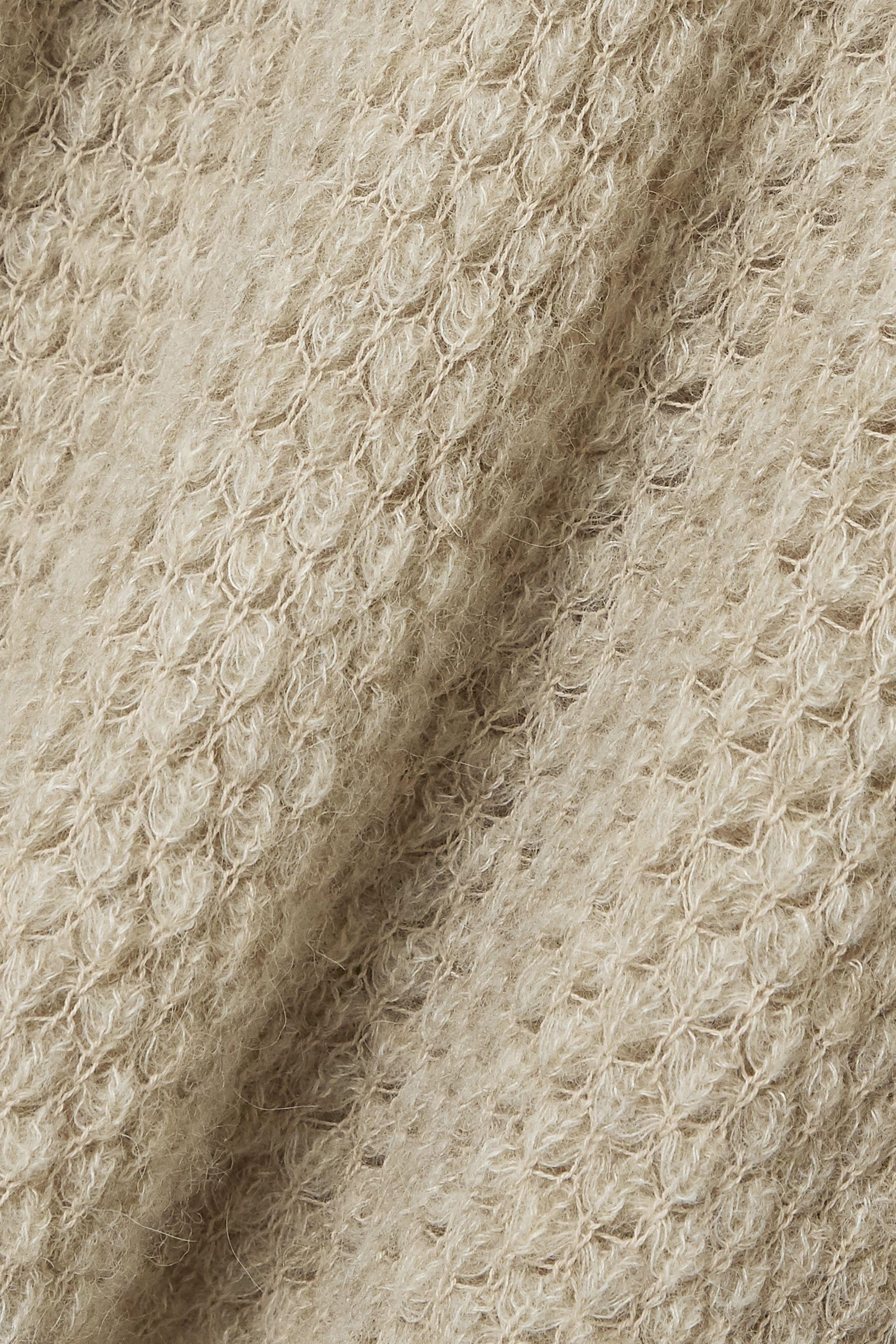 Beige Camilla Ruffled Open-knit Alpaca-blend Sweater | Ulla Johnson