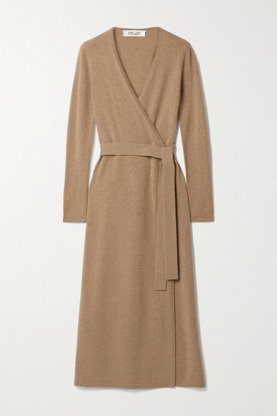 Diane von Furstenberg Astrid wool and cashmere-blend wrap dress