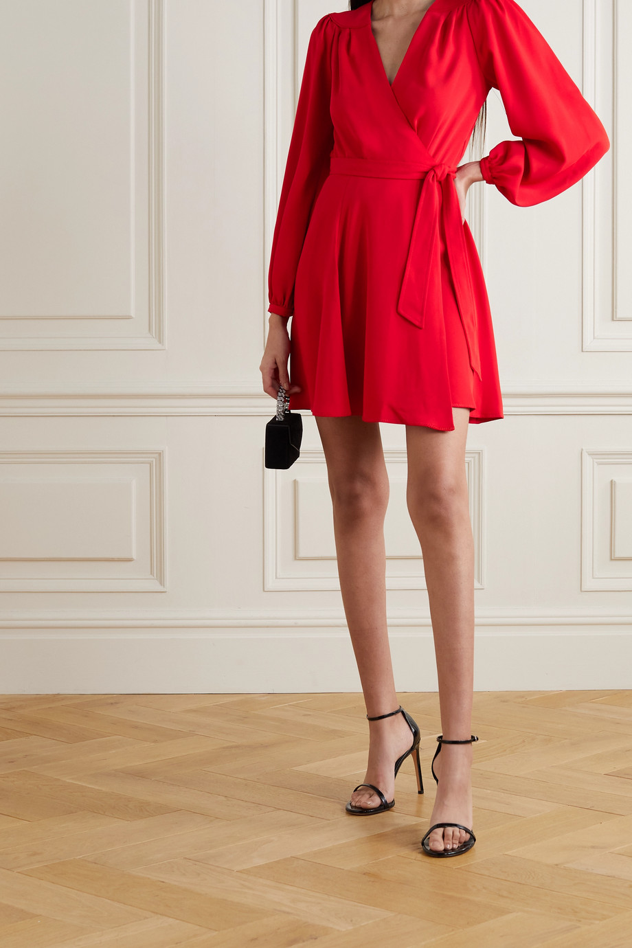 Diane von Furstenberg Mini-robe portefeuille en crêpe Londyn