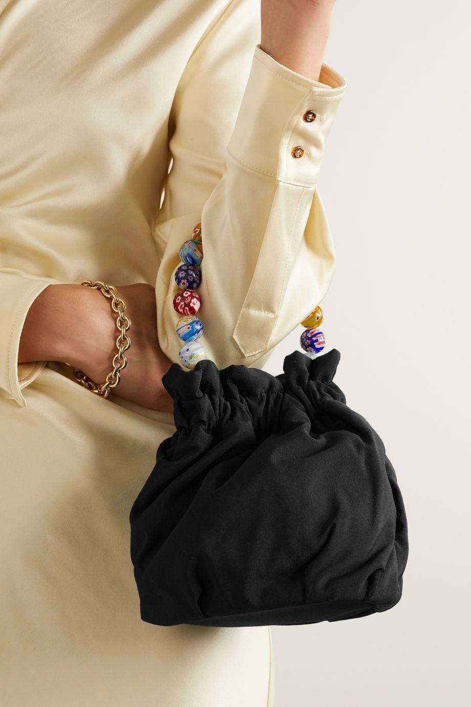 STAUD Grace mini grosgrain bucket bag