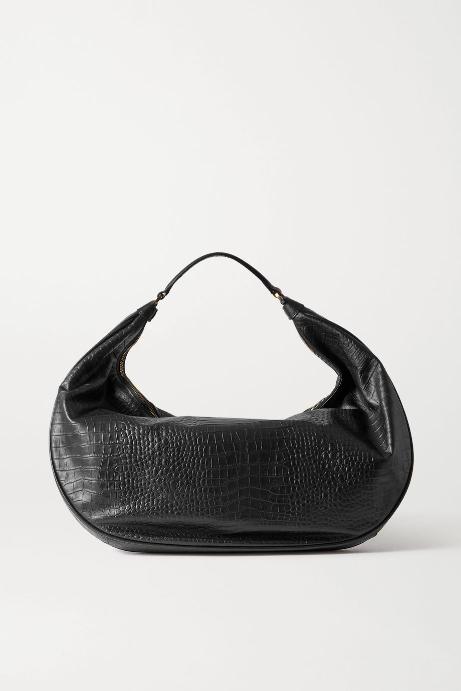 STAUD Sasha croc-effect leather shoulder bag