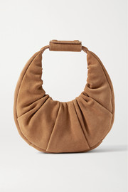 STAUD Moon mini ruched suede tote