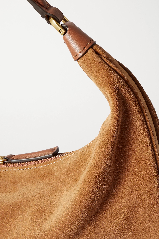 STAUD Sasha small suede shoulder bag