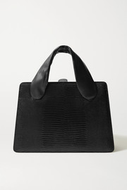 Little Liffner Lizard-effect and smooth leather tote