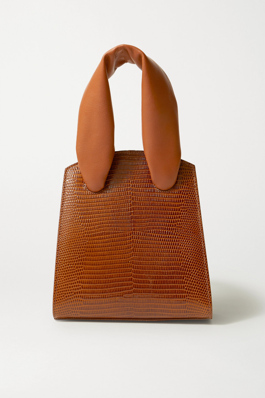 Little Liffner Mini lizard-effect and smooth leather tote