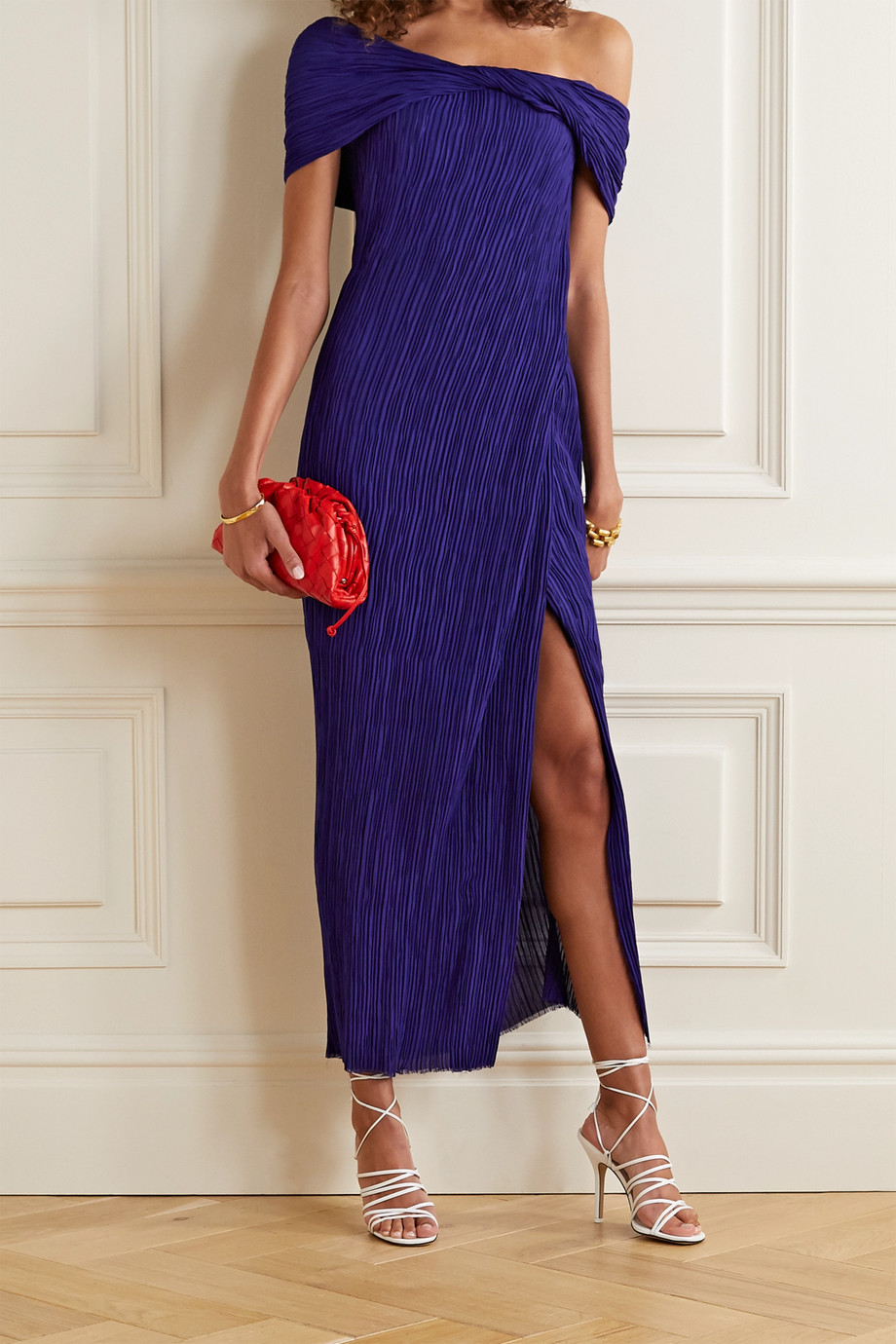 Jason Wu Collection Off-the-shoulder georgette maxi dress