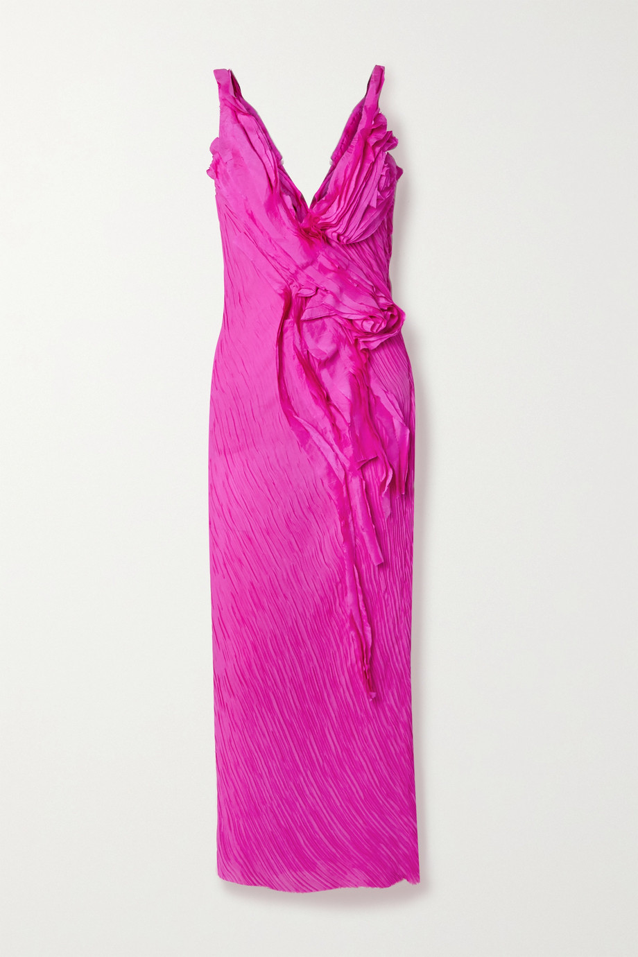 Jason Wu Collection Ruffled crinkled silk-georgette maxi dress