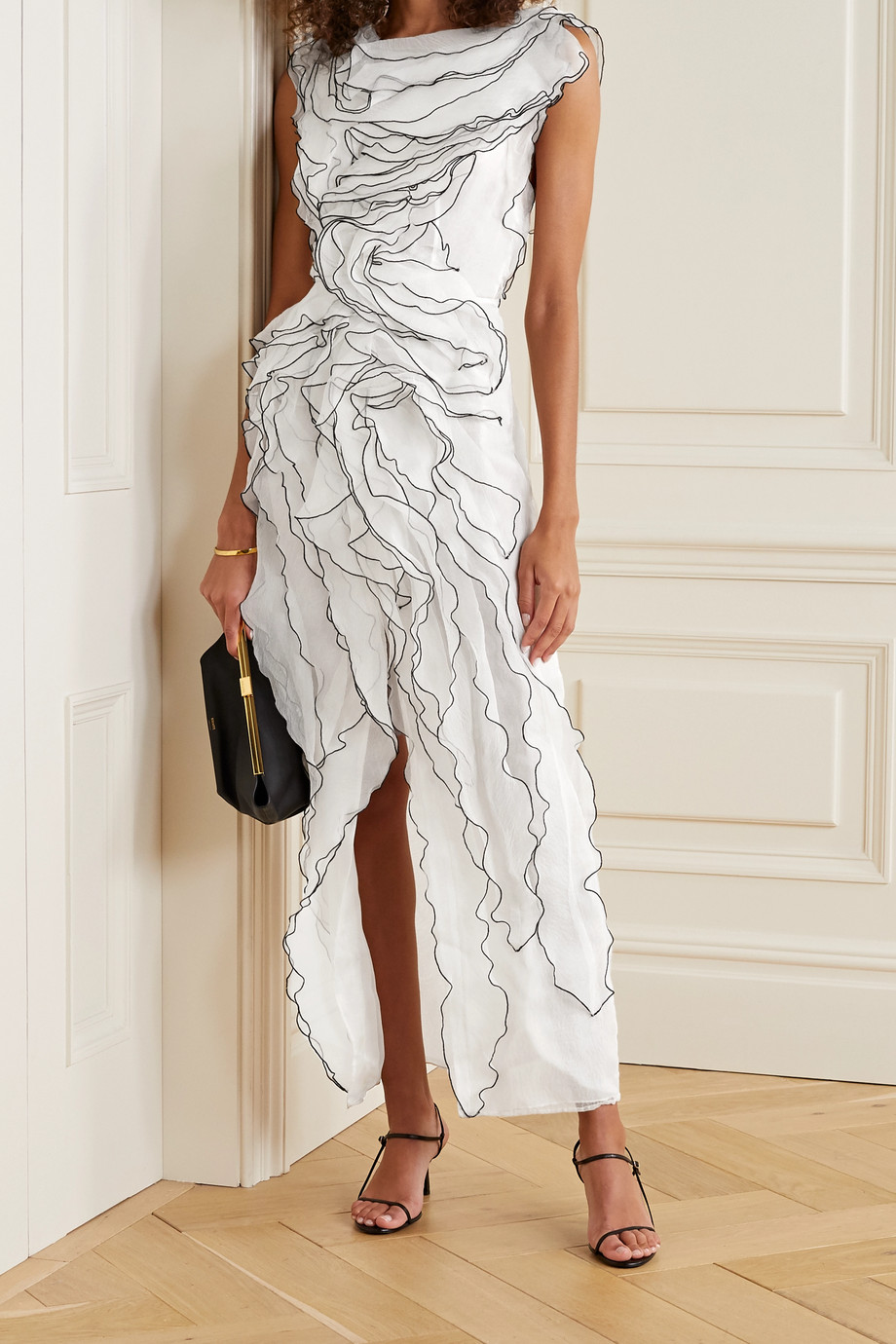 Jason Wu Collection Ruffled silk-blend organza midi dress