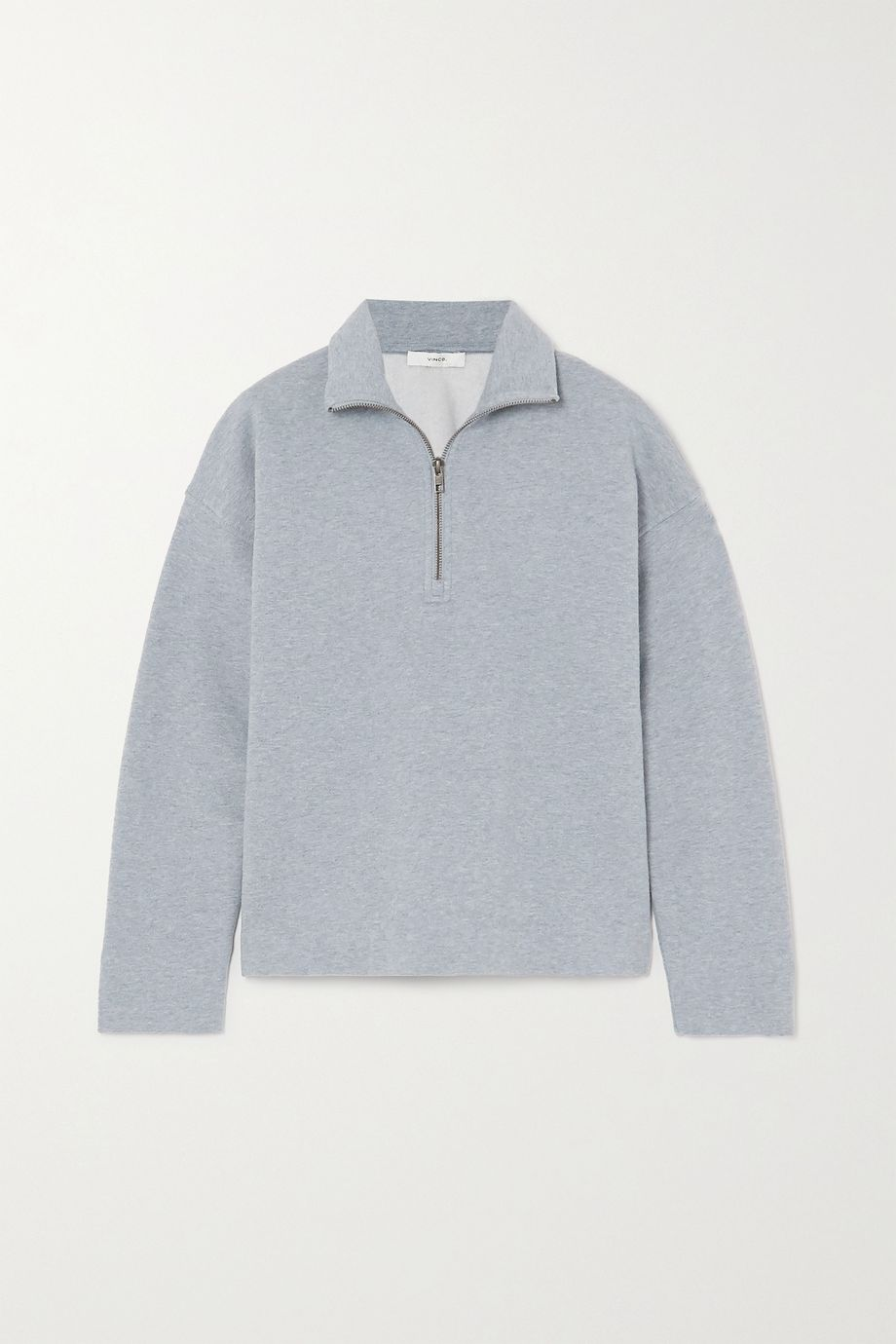 Vince Mélange cotton-blend jersey sweatshirt