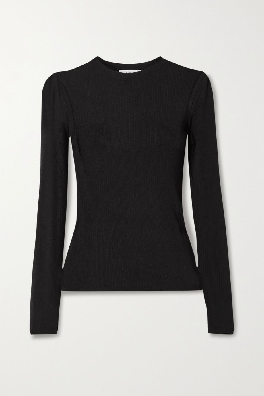 Vince Ribbed Tencel and wool-blend top