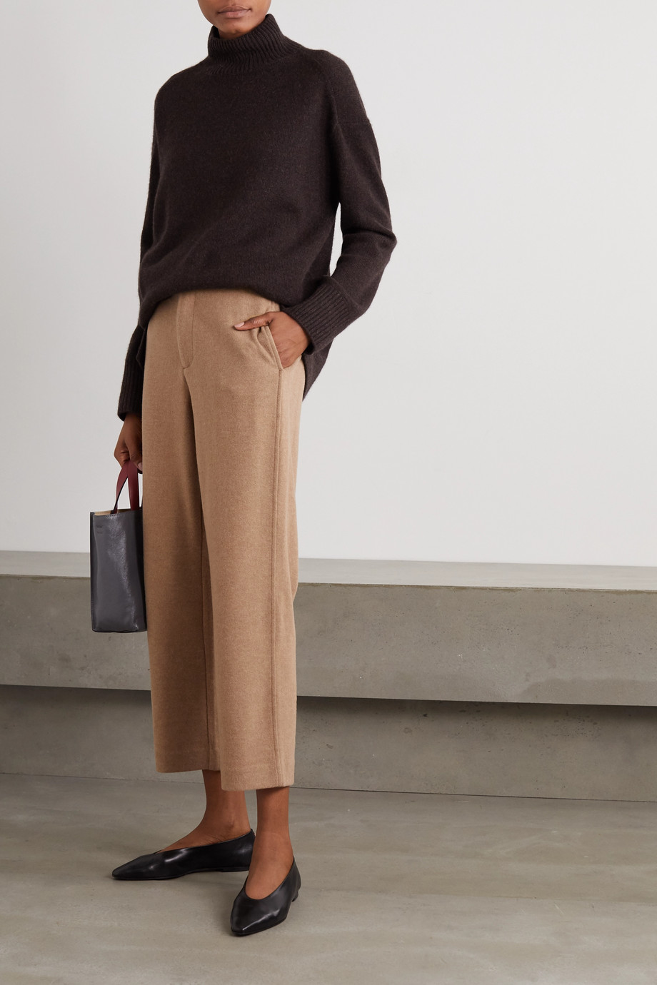 Vince Cropped stretch-knit tapered pants