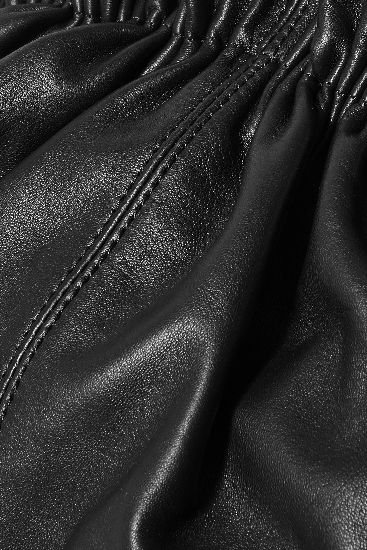 Loeffler Randall Loretta gathered leather clutch