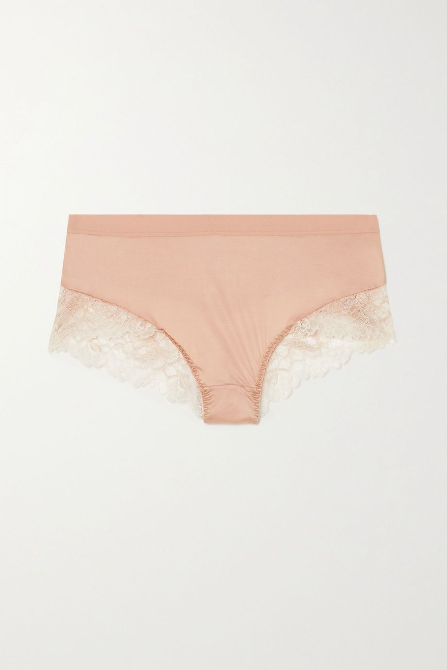 Maison Lejaby Shade satin and stretch-lace briefs