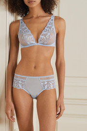 Maison Lejaby Sin embroidered stretch-tulle and jersey underwired triangle bra